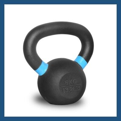 6kg Classic Powder Coated Cast Iron Russian Style KettleBell