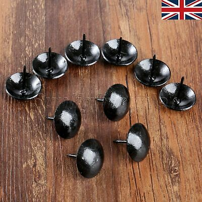 10Pcs Furniture Hardware Black Tack Studs Pins Jewelry Box Upholstery Nails UK