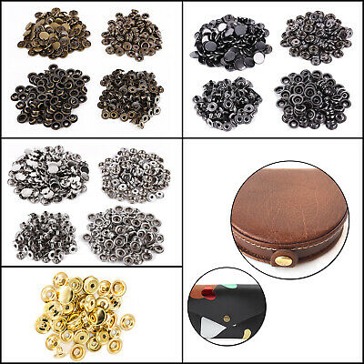 15mm Heavy Duty Metal Press Studs Snap Fasteners DIY For Leather-crafts Clothing