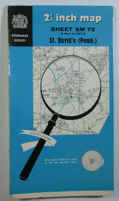 1965 OS Ordnance Survey 1:25000 First Series Prov Map SM 72 St David's (Pemb)