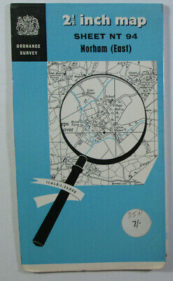 1959 Old Vintage OS Ordnance Survey 1:25000 First Series Map NT 84 Norham (East)