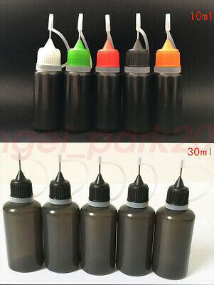 Wholesale 10ml 30ml Black Needle Tip Empty Plastic Dropper Bottles LDPE