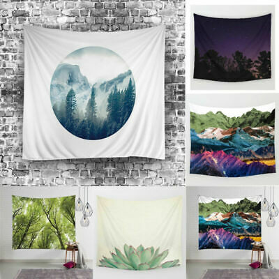Living Room Tapestry Night Starry Decor Printed Wall Scenery Hanging Natural Sky