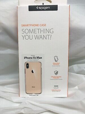 iPhone XS MAX Spigen Ultra Hybrid Crystal Clear Bumper Shockproof Case Cover