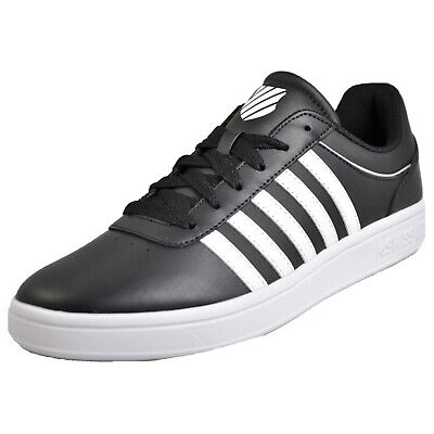 K Swiss Court Cheswick Mens Leather Classic Casual Retro Fashion Trainers Black
