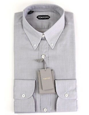 f464e09d36 New Tom Ford Gray Shirt Button Down Collar Size 15.5 39 NWT