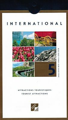 Canada Stamp #BK244 #1904 Tourist Attractions 2001 5 x $1.05 Booklet pane of 5