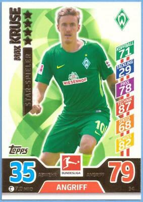 Topps Match Attax Bundesliga 2017-2018 Card No. 54 Max Kruse