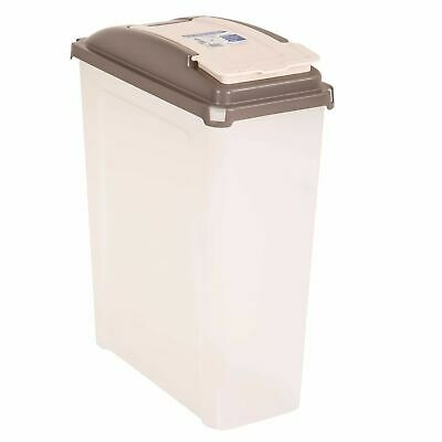25L Plastic Recycle Storage Box Flip Lid Dry Food Pet Container Dust Waste Bin