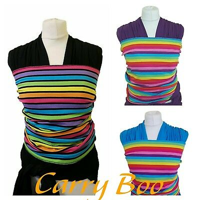 Rainbow Stretchy Wrap Baby Sling