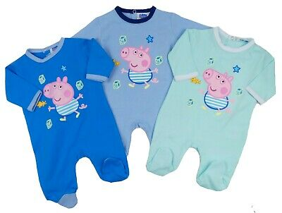 Baby Boys Sleepsuit George Pig Romper Baby Grow All In One  up to 9 months