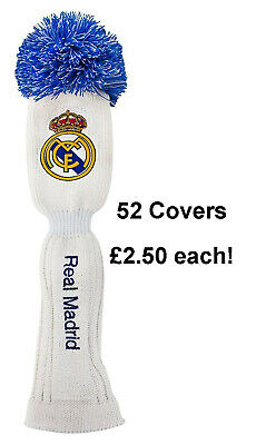 Wholesale Job Lot 52 Real Madrid 100% Official Golf Pom Pom Driver Head Cover