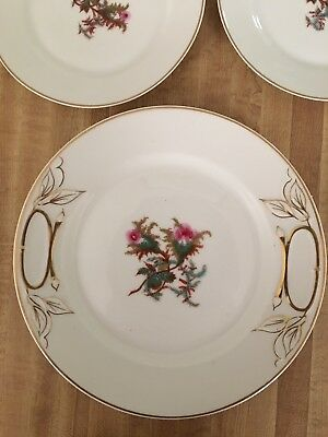 Limoges Haviland Rare Moss Rose C 1878 Dessert Service For 10 Gold Excellent