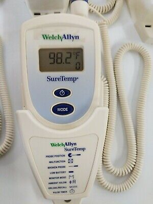 Welch Allyn SureTemp 678 Oral Electronic Thermometer w/Wall Mount