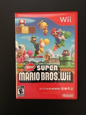 """""""New"""" Super Mario Bros. Wii - Nintendo  Wii Game Preowned Complete with Manual"""