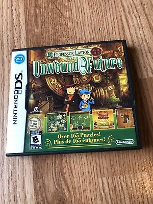 Professor Layton and the Unwound Future (Nintendo DS, 2010) Works VC2