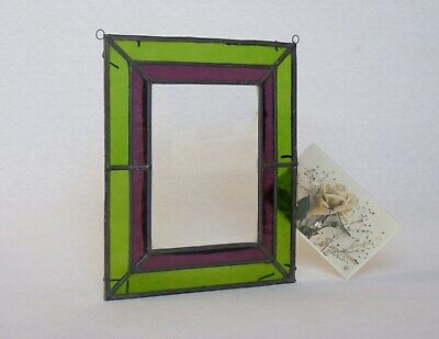 Vintage French Stained Glass Picture Frame