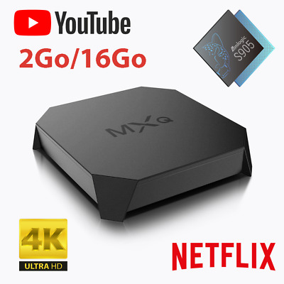 ANDROID BOX MXQ TV Smart TV Android 7.1 2G/16G 2.4 GHz WIFI 4K Media Player