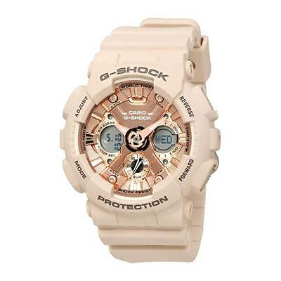 New Casio G-Shock GMAS120MF-4 S-Series Rose Gold Dial Pink Resin Women Watch