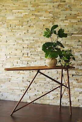 No. 40 National Washboard Co. Ironing Board-Antique Iron Board- Console Table-