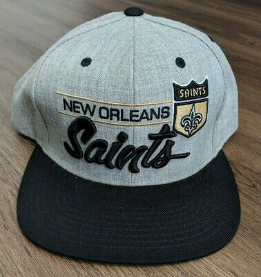 pretty nice 5d0a9 663c8 New Orleans Saints Nfl Hat Cap Mitchell   Ness Snap Back Gray Vintage  Collection