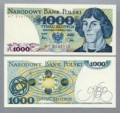 Poland 1982 1000 Zlotych Banknote Mint UNC - #BN1183 NTO59a 03