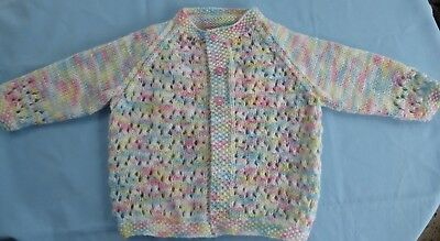 Baby Hand Knitted Jacket, Multi Coloured, Suit 3 To 6 Month Old (21)