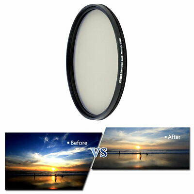 49/52/58/62/67/77/82mm ZOMEI Ultra Thin For CPL Camera Polarizing Filter✳★