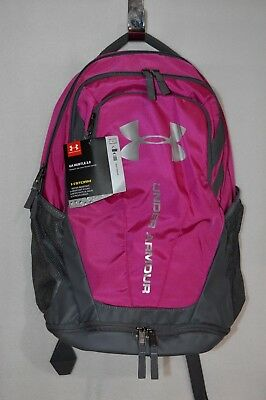 Under Armour UA Hustle 3.0 Tropic Pink Graphite Backpack - NWT 1294720-654 8e8d11aec83d0