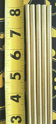 "1/4"" C360 BRASS SOLID ROUND ROD (5 Pieces) 8"" Long  New Lathe Bar Stock .250"""