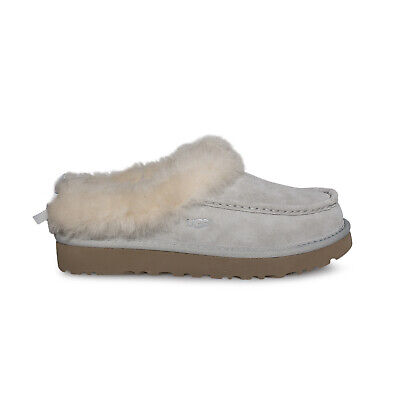 10e9dcb89f Ugg Grove Grey Violet Waterproof Suede Moccasin Women s Slippers Size Us 7  New