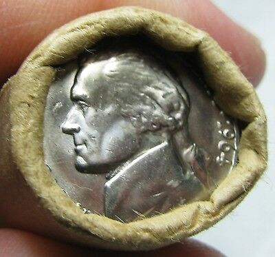 1964 D Obw Original Bank Wrapped Roll Bu Uncirculated Jefferson Nickels