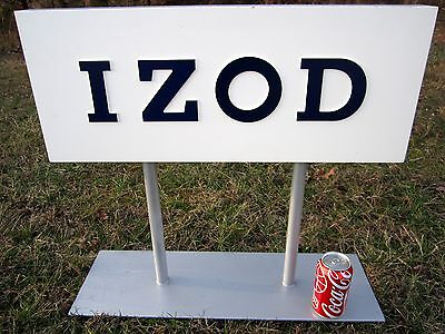 IZOD Double Sided Store Sign Wood Clothing Advertising Display Logo Metal Stand