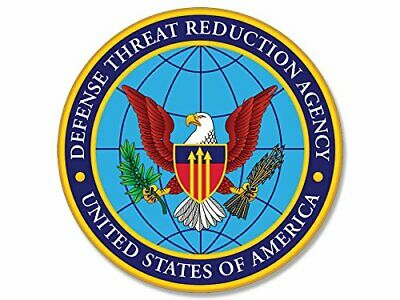 4x4 inch Round Defense Threat Reduction Seal Sticker (Military us DTRA)