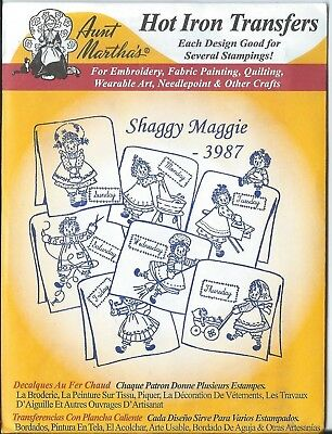 "AUNT MARTHA'S HOT IRON TRANSFERS  "" Shaggy Maggie "" # 3987"