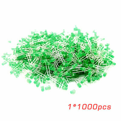 Professional 3MM 1000 Pcs/Lot Light Emitting Diodes Green Diffused Lens✳★