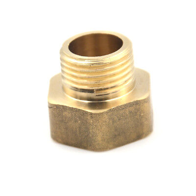1/2PT Male to 3/4PT Female Thread Brass Hose Pipe Hex Bushing Reducer Fitting X