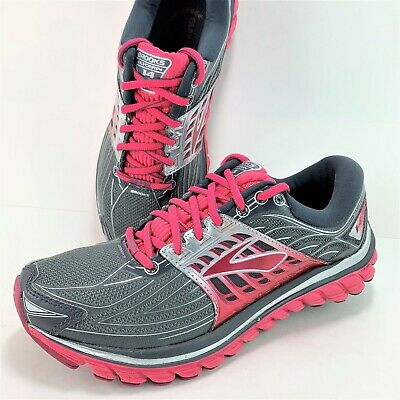 0d7a7e3a909d9 BROOKS GLYCERIN 14 Women s Size 8 B Gray Red Athletic Sneakers ...