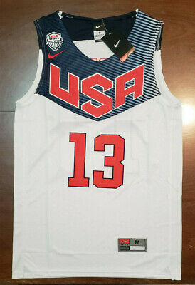 huge selection of 38ab6 224b6 JAMES HARDEN JERSEY Men's Olympics Team USA # 13 NWT - White - New with tags