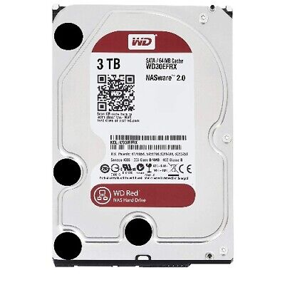 WD Red 3TB NAS 64MB 3.5' 5400RPM SATA3 6Gb/s 64MB Cache WD30EFRX