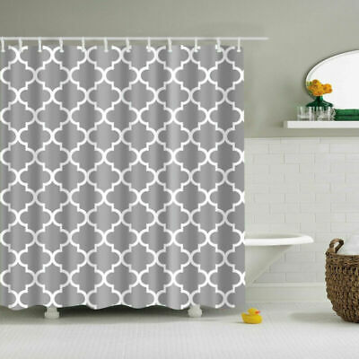 Gray Connection Geometry Polyester Waterproof Bathroom Fabric Shower Curtain