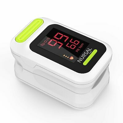 Nursal Fingertip Pulse Oximeter Blood Oxygen Saturation Monitor With Carrying Ca