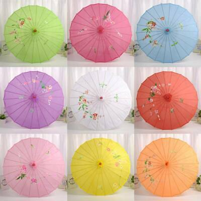 Chinese Oil Paper Umbrella Art Paint Bamboo Parasol Dance Wedding Party Decor US