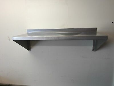 Brand New Stainless Steel Wall Mounted Shelving 900 x 350 mm