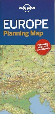 Lonely Planet Europe Planning Map *FREE SHIPPING - NEW*