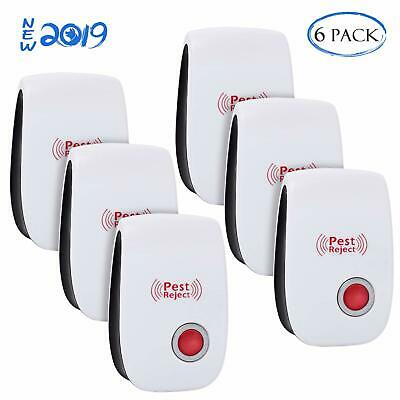 6Pcs Ultrasonic Pest Repeller Plug in Rat Control Electric Mouse Mice Repellent