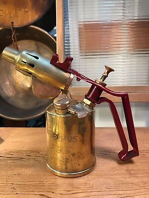 Vintage Swedish Made Brass Primus Blow Torch Tool Working Restored