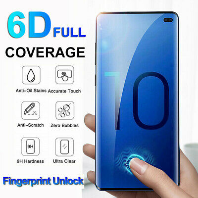 6D Full Glue UV Tempered Glass Screen Protector For Samsung Galaxy S10 Plus AU I