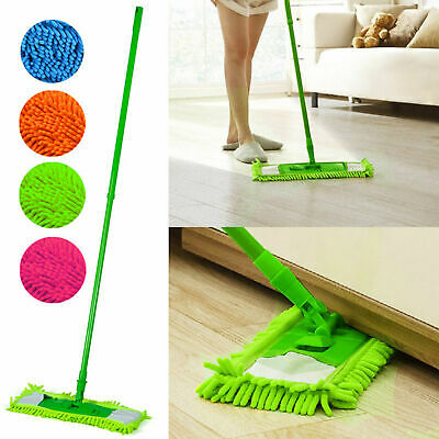 Extendable Microfibre Mop Cleaner Sweeper Wooden Laminate Tile Floor Wet Dry NEW