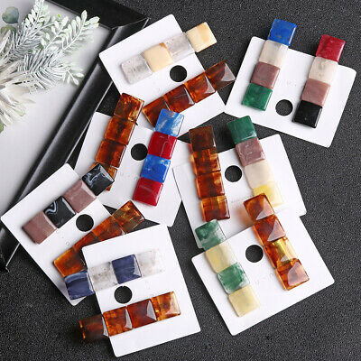 Girls Hairgrips  Acetic Acid Hair Clips Barrettes Vintage Resin Hairgrips